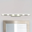White Finished Long LED Vanity Lighting 14.57