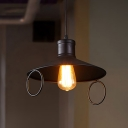 Black Simple Style 10.62 Inches Width Pendant Lighting with Round Pendant