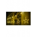 Holiday Party Twinkle Star LED Curtain String Lights