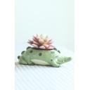 Crocodile Shape Resin Planter For Succulents Desktop Flowerpot