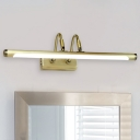 Antique Brass LED Vanity Light 1 Light 9W-16W LED Acrylic Shade Cylinder Picture Light for Gallery Art Work Bathroom Mirror 4 Sizes Available