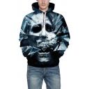 3D Terror Glass Character Print Long Sleeve Hoodie