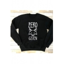 ZERO GIVEN Printed Long Sleeve Crewneck Long Sleeve Pullover Sweatshirt