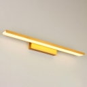 Bathroom Vanity Lights 16/24/32W LED Warm White Acrylic Linear Vanity Lights in Gold 16.14