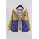 Reversible Color Block Long Sleeve Zip Up Hooded Track Jacket