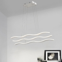 Energy Efficient White Acrylic LED Linear Chandeliers 28.35