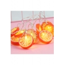 Holiday Battery Operated Orange String Lights