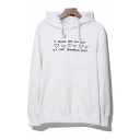 Fashion Character Letter Print Long Sleeve Casual Hoodie