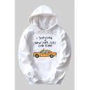 I SURVIVED NEW YORK CITY CAB RIDE Printed Long Sleeve Leisure Casual Unisex Hoodie