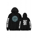 Letter Graphic Print Long Sleeve Unisex Sports Casual Hoodie