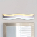 Minimalist Stainless Steel LED Wave Wall Light 16.14