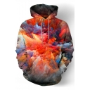 Colorful Cloud Print Long Sleeve Casual Hoodie for Men