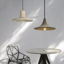 Nordic Hanging Lamp with Cement Shallow Saucer Shaped