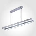 Workshop Commerical Office Lighting 36W 2700K-7000K Warm White 2 Light Silver Finish Linear LED Pendant Lighting (47.24