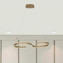 Simple Curved LED Pendant 23.62