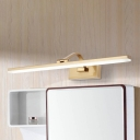 Dampproof Antifogging LED Acrylic Shade Vanity Light 9W-16W Cabinet Mirror Bathroom Linear LED Wall Lighting in Brass 4 Sizes Available