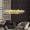 Indoor Art Deco Lights LED Warm White K9 Crystal LED Chandelier Metal 15.75