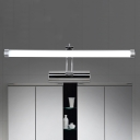 16.93/20.87 Inch Long Stainless Steel LED Cylinder Vanity Light with Acrylic Frosted Shade 5/7W Chrome Tube Bath Vanity Lighting