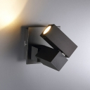 Modern Lighting Black/White Sqaure LED Track Lighting LED Downling 5W 3000K Warm Light 4.72