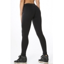 Plain Elastic Waist Skinny Basic Yoga Sports Leggings