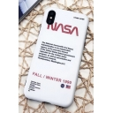Chic NASA Letter Print Mobile Phone Cases for iPhone