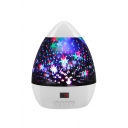 Romantic Galaxy Fancy Diamond Stylish USB Charge Egg-Shaped Night Light 13*17mm
