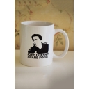 Letter JOEY DOESN'T SHARE FOOD Printed White Ceramic Mug Cup