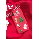Hot Sale Christmas Series Snowman Printed PU Leather Phone Case