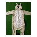 Color Block Two-Tone Gray Coala Unisex Fleece Onesie Costume Pajamas