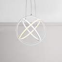 Contemporary Nordic LED Galaxy Pendant Lighting 20W LED Warm White Light 16