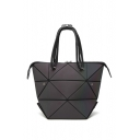 Stylish Multi-Way Folding Geometric Diamond Pattern Shoulder Bag Handbag