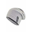 Chic Logo Patched Outdoor Winter's Cotton Beanie