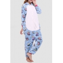 Fleece Unisex Carnival Cosplay Onesie Sleepwear Pajamas for Adult