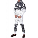 Chic Ombre Camouflage Printed Zip Up Hoodie Sports Casual Outfits Co-ords