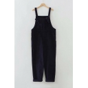Vintage Corduroy Winter's Casual Leisure Overall Pants for Juniors