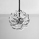 Silver Leaf LED Pendant Light 12/18/24 Light Aluminum Globe Chandelier for Bar Restaurant Stores