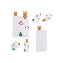 New Fashion Christmas Series Cartoon Santa Claus Embellished Silicone Phone Case