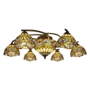 6+1/8+1 Lights Baroque Style Gorgeous Flower Pattern Ceiling Light Fixture with Center Bowl