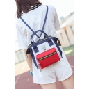 New Arrival Fashion Color Block School Backpack for Juniors