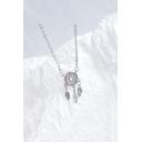 Silver Diamond Fashion Dream Catcher Design Necklace for Girls