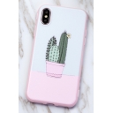 Lovely Pink Cactus Printed Shatter-Resistant Unisex iPhone Case