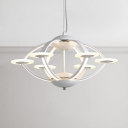 Ultra Modern Nordic Style Acrylic Orb LED Chandelier 58W LED Warm White Light 23.5