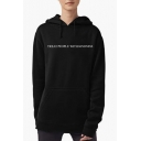 Simple Letter TREAT PEOPLE WITH KINDNESS Printed Long Sleeve Slim Hoodie for Girls