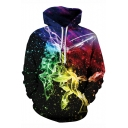 Hot Fashion Galaxy Printed Long Sleeve Sports Leisure Hoodie for Couple