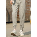 Fashion NASA Logo Patched Drawstring Waist Casual Loose Fitted Sweatpants