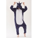 Unisex Fleece Star Printed Pegasus Cosplay Onesie Costume Pajamas