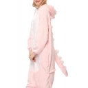 Pink Dragon Cosplay Long Sleeve Hooded Carnival Fleece Costume Pajamas