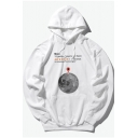 Funny Earth Location Letter Printed Unisex Long Sleeve Basic Hoodie