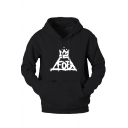 Hip Hop Style Long Sleeve Letter FOB Printed Regular Fitted Cotton Hoodie