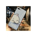 Light Blue Lovely Cartoon Dog Printed Unisex Shatter-Resistant iPhone Case